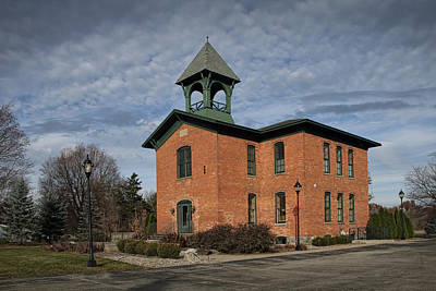 Gas Lamp Photograph - Historical Building In Southwest Michigan by Randall Nyhof