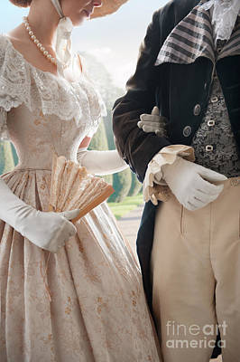 Regency Era Wall Art - Photograph - Historical Couple Arm In Arm by Lee Avison