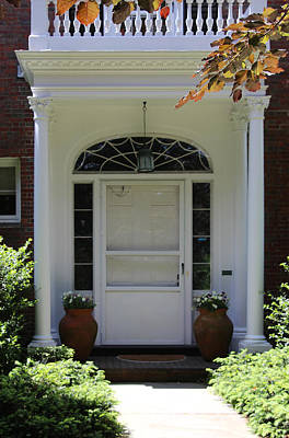 Photograph - Historical Door With Columns by Denyse Duhaime