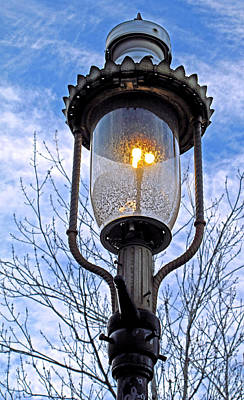 Gas Lamp Photograph - Historical Gas Street Lamp by Barbara McDevitt