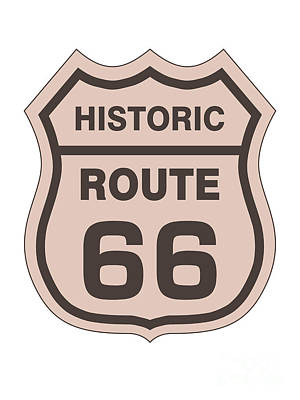Keith Richards - Historical Route 66 sign by Indian Summer