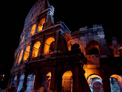 Photograph - Historical Shapes In The Night by Alessandro Della Pietra
