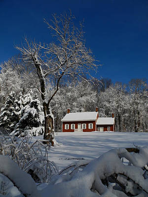Photograph - Historical Society House In The Snow by Raymond Salani III