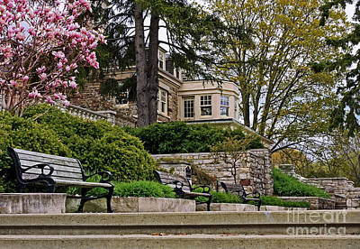 Historical Victorian Mansion In Burlington Print by Inspired Nature Photography Fine Art Photography