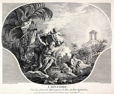 History Allegory, 18th-century Artwork Art Print by Science Photo Library