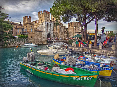 History At Lake Garda Art Print