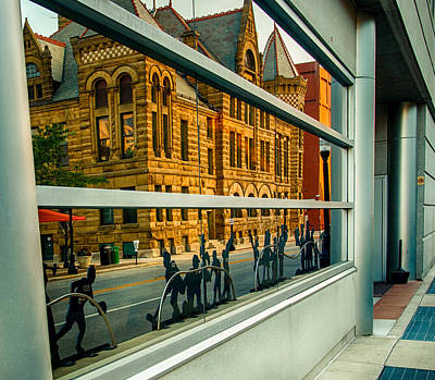 Photograph - History Center Reflected by Gene Sherrill