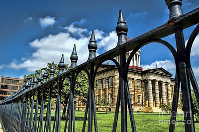 Photograph - History -  Illinois Old Capitol Building2 - Luther Fine Art by Luther Fine Art