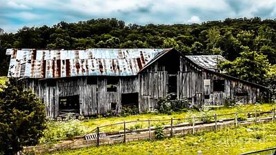 Photograph - History Left Behind  Old Barn by Peggy Franz