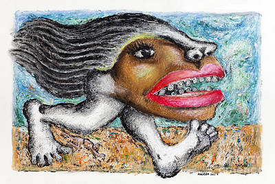 Thai Artist Artists Painting - Hit And Run by Nalidsa Sukprasert