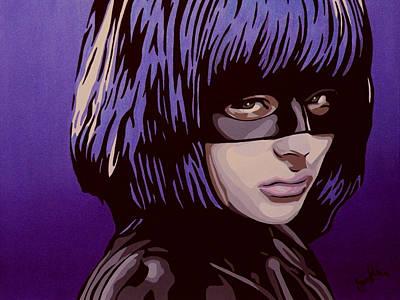 Hit-girl Art Print by Ian  King