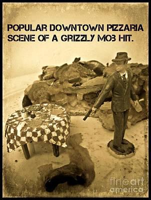 Hit On A Pizza Art Print by John Malone