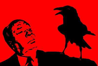 Director Digital Art - Hitchcock In Red by Jera Sky