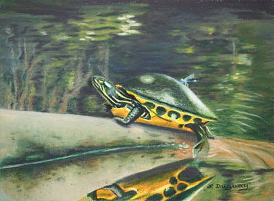 Movies Star Paintings - Hitchhiker by Lora Duguay