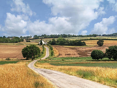 The Long Winding Road  Art Print by Gill Billington