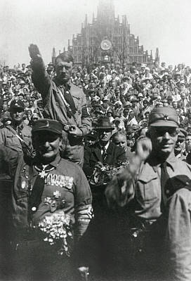 Goering Photograph - Hitler At Nazi Party Rally, Nuremberg by Everett