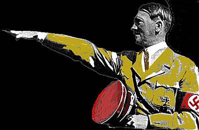 Hitler Saluting #1 Circa 1933-2012  Art Print by David Lee Guss