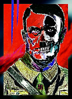 Hitler  - The  Face  Of  Evil Art Print