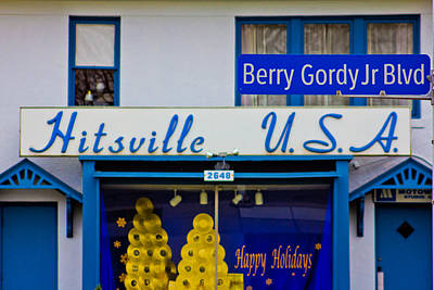 Photograph - Hitsville Usa And Berry Gordy Sign by John McGraw