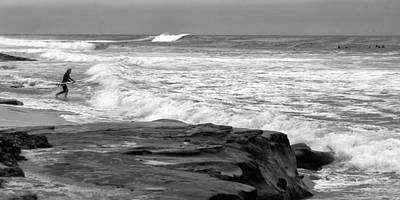 Shack Photograph - Hittin The Breakers Black And White by Peter Tellone