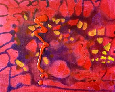 Squiggles Painting - Hive by Nancy Merkle