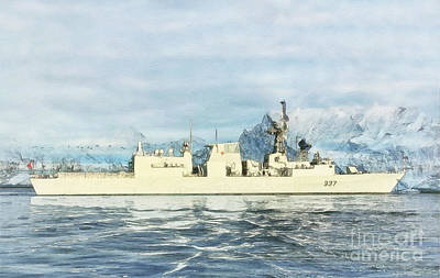 Navy Digital Art - Hmcs Fredericton By Shawna Mac by Shawna Mac