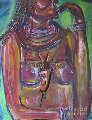 Africa Painting - Hmmmmm by Lucy Matta