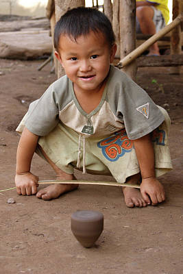 Person Photograph - Hmong Boy by Adam Romanowicz