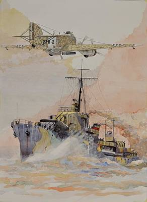 Painting - Hms Ashanti by Ray Agius