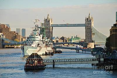 Hms Belfast London Art Print