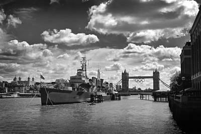 Photograph - Hms Belfast London by Ed Pettitt