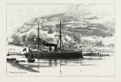 Cruiser Drawing - H.m.s. Blake, The Protected Cruiser Recently Launched by Litz Collection