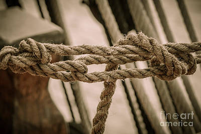 Photograph - Hms Bounty Knots by Patricia Trudell