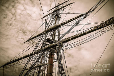 Photograph - Hms Bounty Main Mast by Patricia Trudell