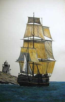 Art Print featuring the painting Hms Bounty by Stan Tenney
