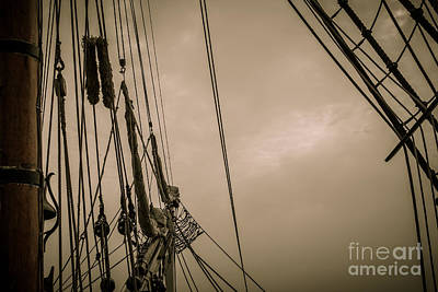 Photograph - Hms Bounty Starboard Riggings by Patricia Trudell