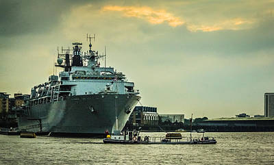 Police Art Photograph - Hms Bulwark by Dawn OConnor