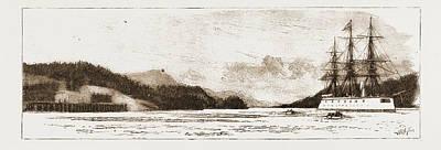 H.m.s. Comus At Burrard Inlet, The Present Terminus Art Print