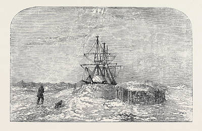H.m.s. Enterprise In Winter Quarters Art Print by English School