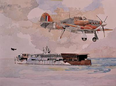 Painting - Hms Furious by Ray Agius