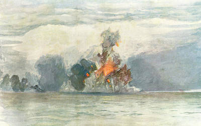 Hms Hood Painting - Hms 'hood', The World's  Largest by Mary Evans Picture Library
