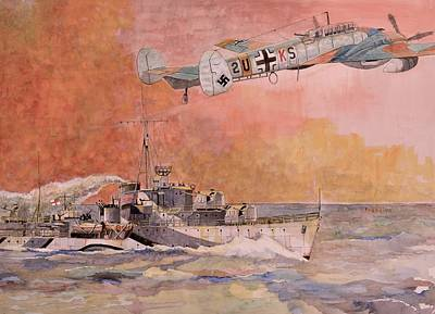 Painting - Hms Laforey by Ray Agius