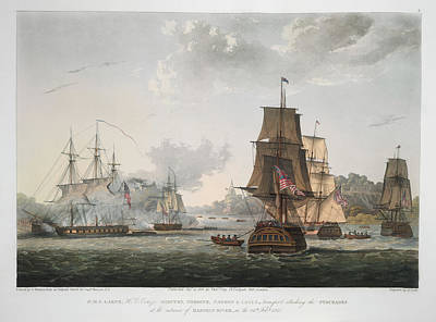 H.m.s Larne And Others Print by British Library