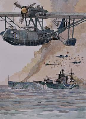 Painting - Hms Nelson by Ray Agius