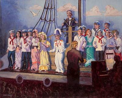 Painting - H.m.s. Pinafore by Ken Fiery