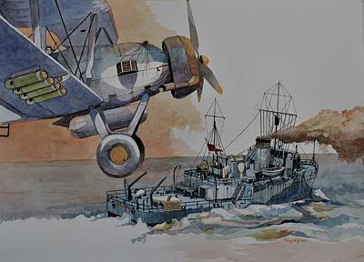 Painting - Hms Rye by Ray Agius