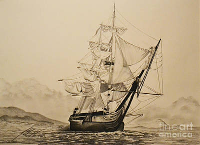 Hms Surprise Print by John Huntsman