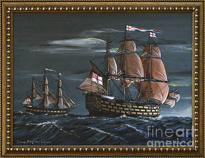 Hms Victory Early Wind Original by Richard John Holden RA