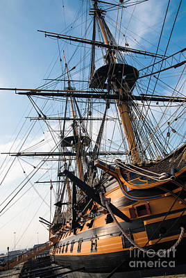 Hms Victory In Portsmouth Dockyard Art Print