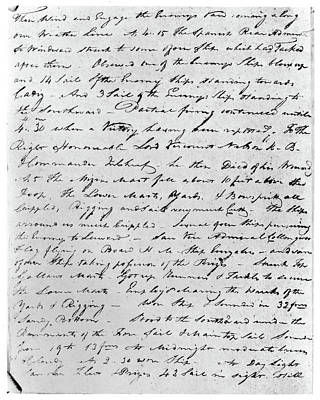 Hms Victory Photograph - Hms Victory Log-book Page by Granger